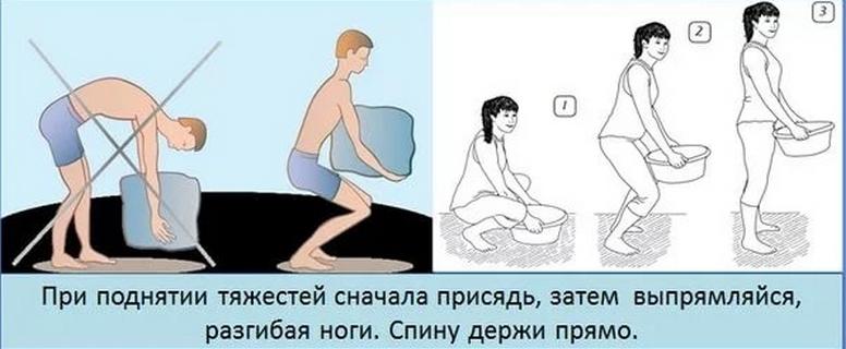 Правильный подъем тяжестей