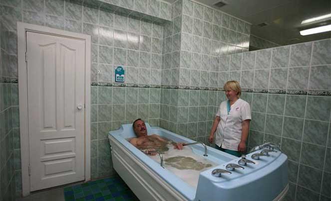 Водные процедуры в санатории Белокуриха