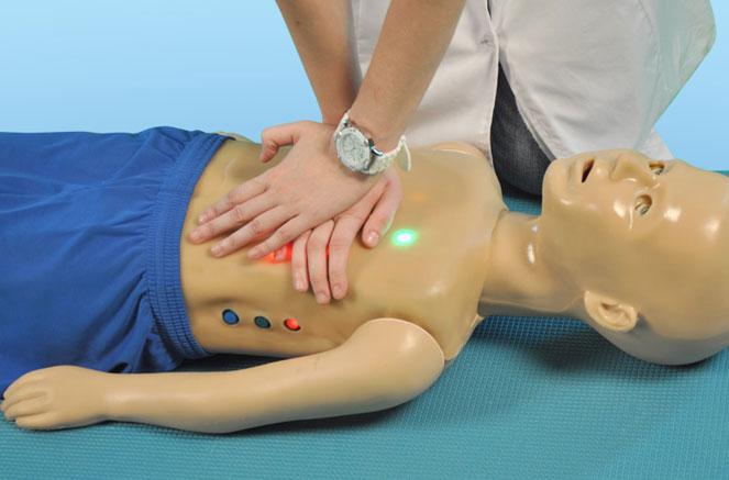 Тренажер для проведения непрямого массажа сердца у детей