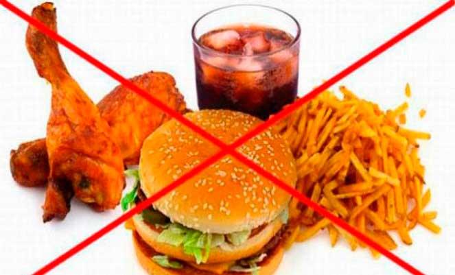 Запрещенные продукты при эрозивном гастрите