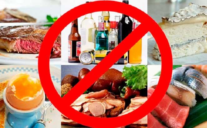 Запрещенные продукты при пищевой аллергии