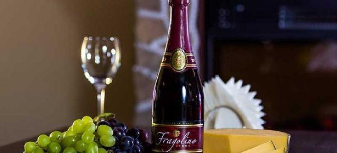 Игристое вино Фраголино (Fragolino)