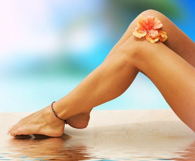 Устранение раздражения на коже ног