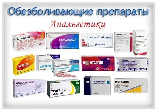 Обезболивающие препараты, анальгетики